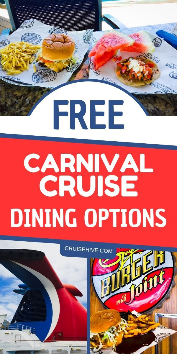 Free Carnival Cruise Dining Options - Carnival Cruise Line