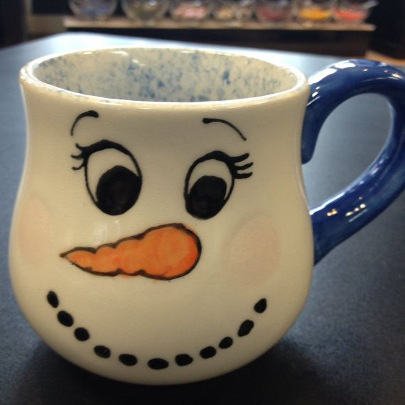 Items Similar To Snowman Mugs Personalized Coffee Hot Chocolate Mug For Kids On Etsy