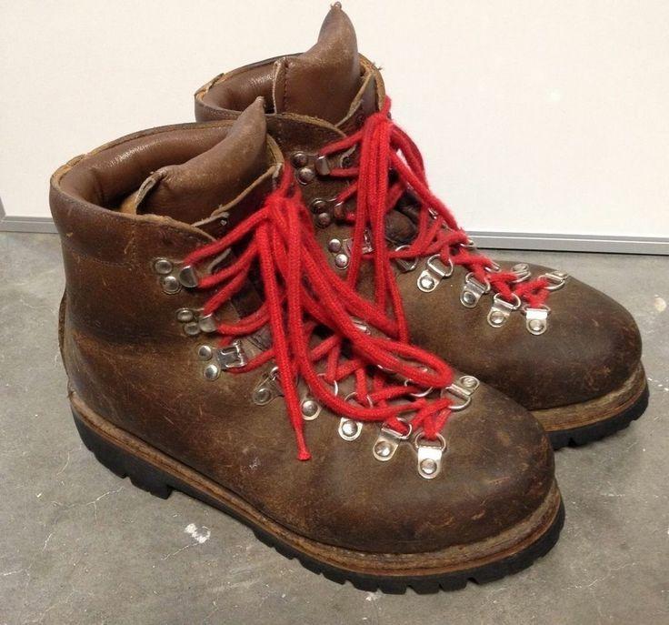 Womens Kastinger Vintage Brown Leather Hiking Boots Size 8