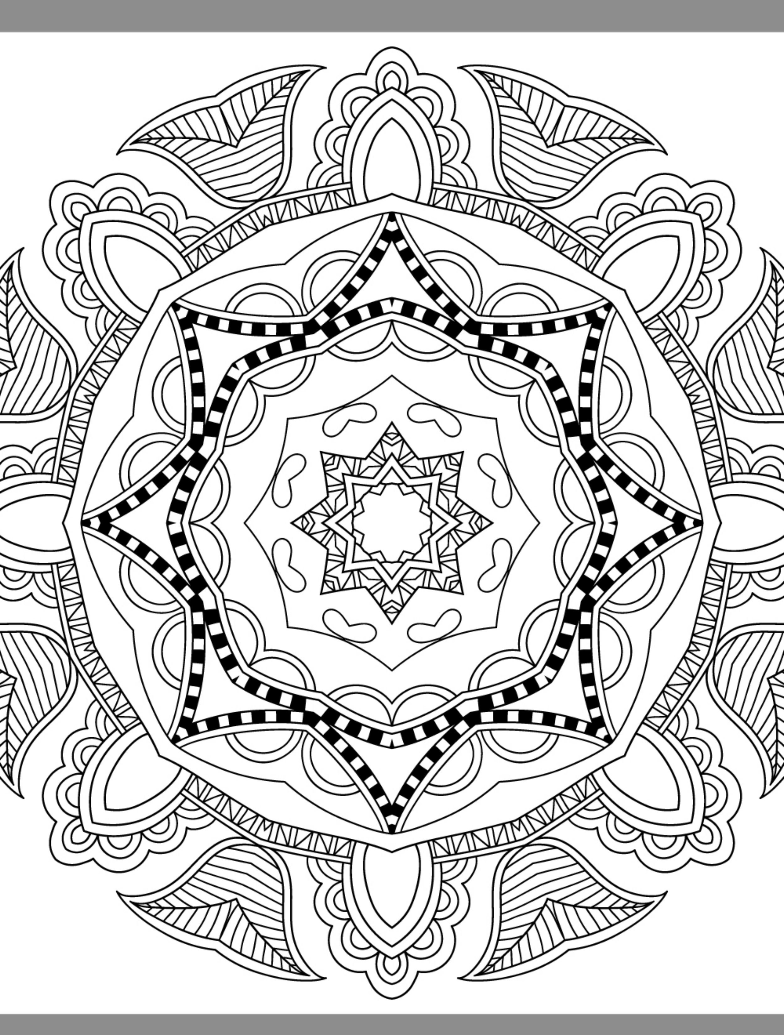 24 More Free Printable Adult Coloring Pages | Mandalas | Pinterest