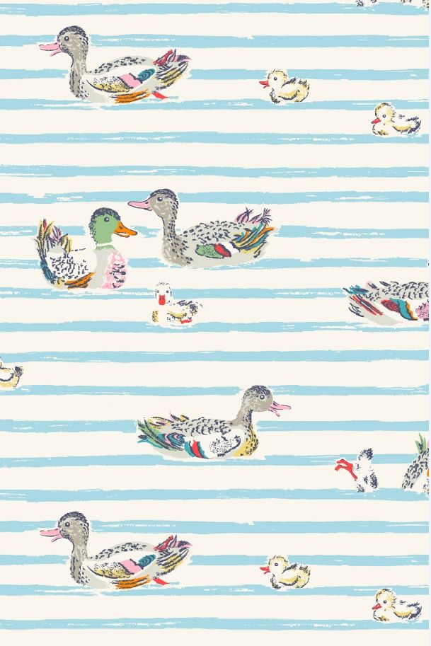 Ducks in a row. Take me to London.  Cath Kidston!