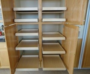 17 Best images about Pull Out Pantry Shelves on Pinterest | Shelves, Sliding  shelves and Slide out pantry