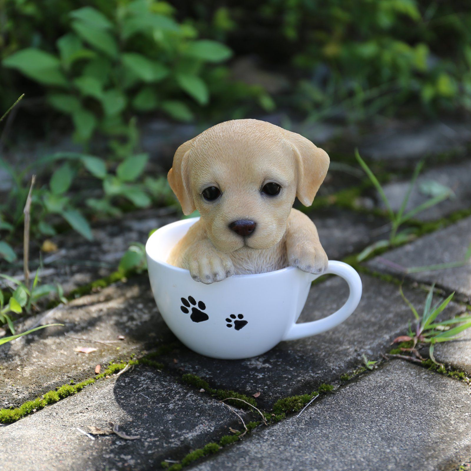 Hi Line Gift Ltd Teacup Labrador Puppy Statue Labrador Puppy