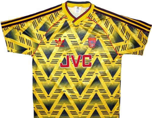 8d09c7f3506 Arsenal 1991-93 - Famous  bruised banana  design away kit worn during the  1992-93 Domestic Cup Double Winning Season -  BUY IT NOW