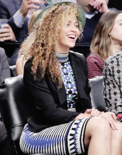 Beyoncé — bknowles Beyoncé at the Brooklyn Nets game