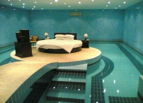 bed in water   dream house   Pinterest