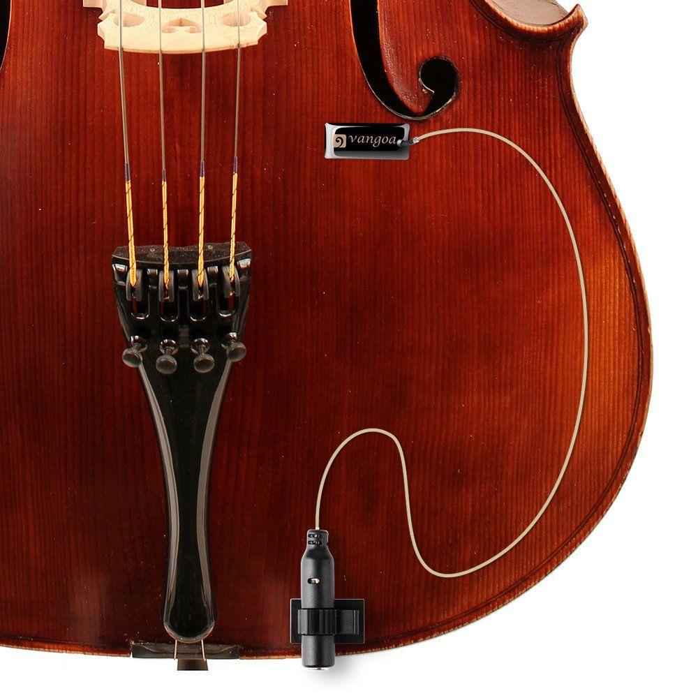 Vangoa Professional Selfadhesive Guitar Pickup With Endpin Jack 1 4 For Acoustic Guitar Violin Zither Cello Ukule Violin Acoustic Guitar Pickups Guitar Pickups
