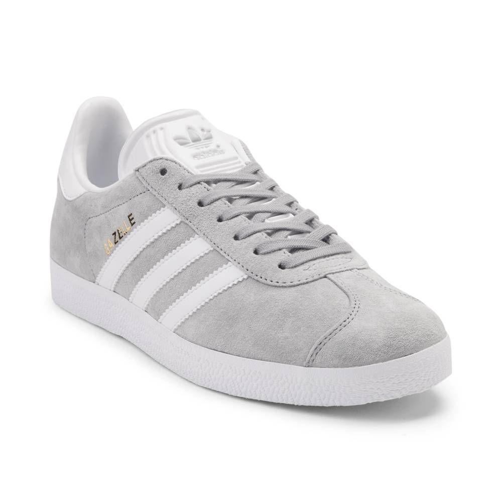 sports shoes dc290 04944 Womens adidas Gazelle Athletic Shoe - GrayWhite - 436340
