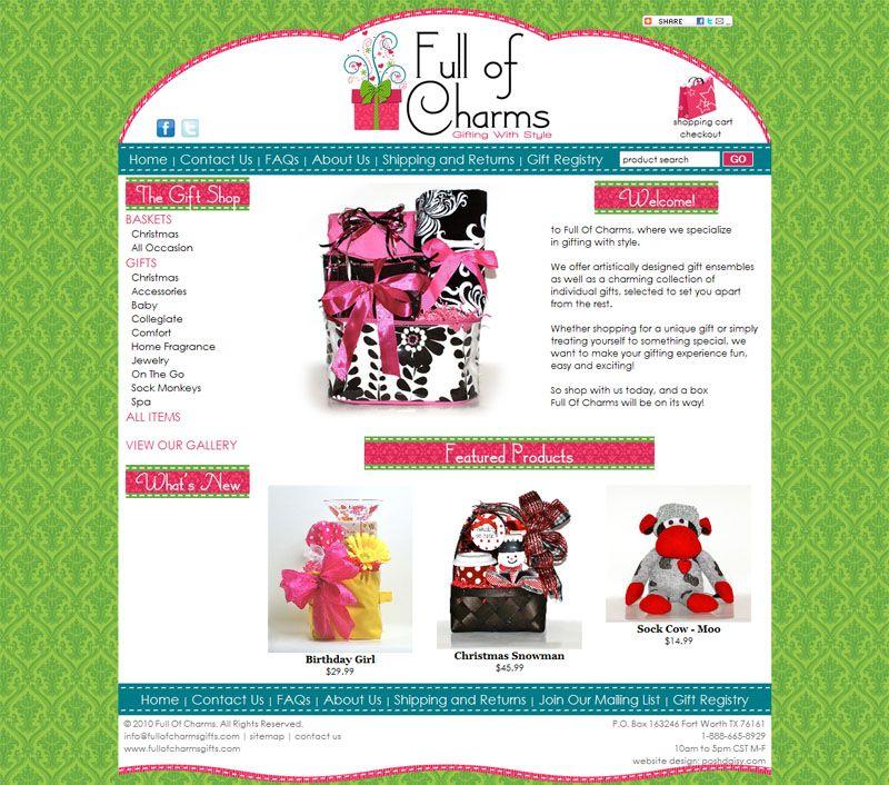 Gift Shop Web Design   Cute Websites and Website Templates ...