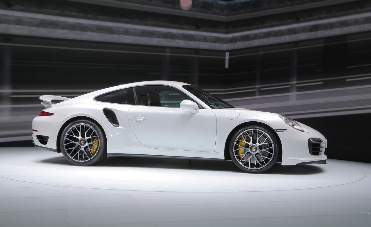2014 Porsche 911 Turbo S White Side View Release Photo Picture Hd Wallpapers Widescreen