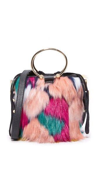 1f8df6bf1cb MILLY Faux Fur Drawstring Bucket Bag.  milly  bags  shoulder bags  hand bags   fur  bucket
