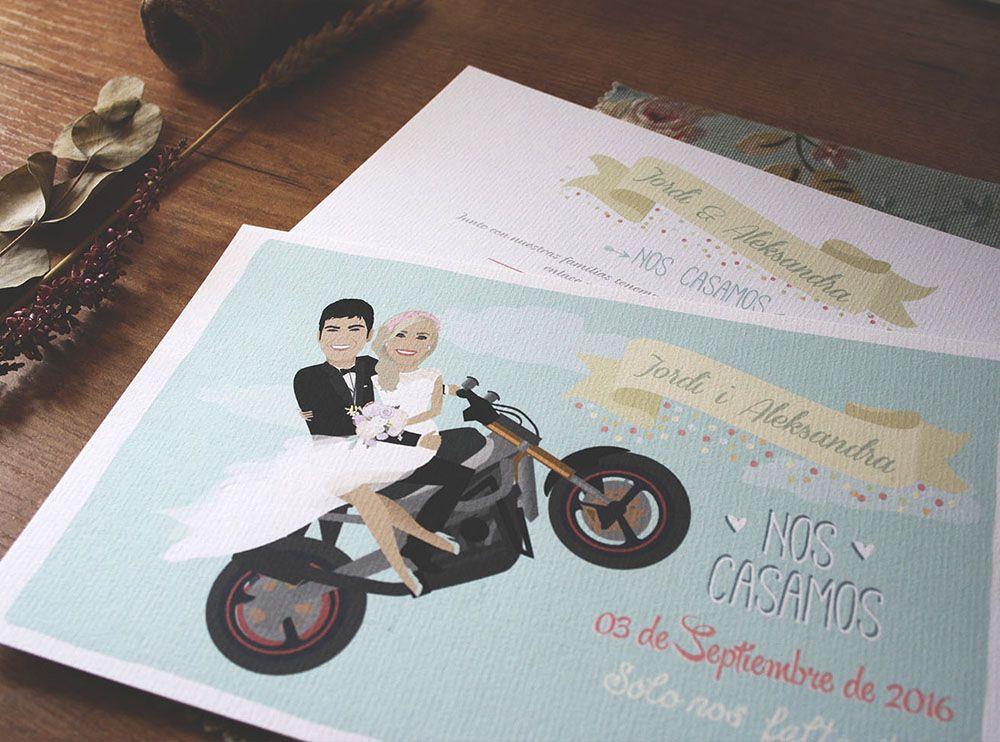 invitaciones-de-boda-personalizadas-invitaciones-con-ilustracion - invitaciones para boda originales