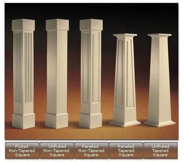Como Construir Columnas Cuadradas De Madera Columnas De Madera Pedestales De Madera Diseno De Columnas