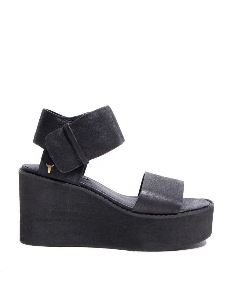 3c0c6063d8d Faye Black Flatform Wedges - Windsor Smith Sandals -
