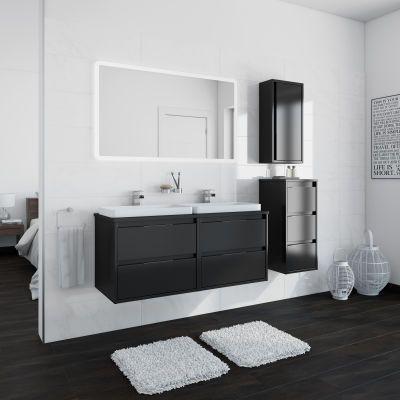 Mobile Bagno Loto Grigio Antracite L 120 Cm Bathroom