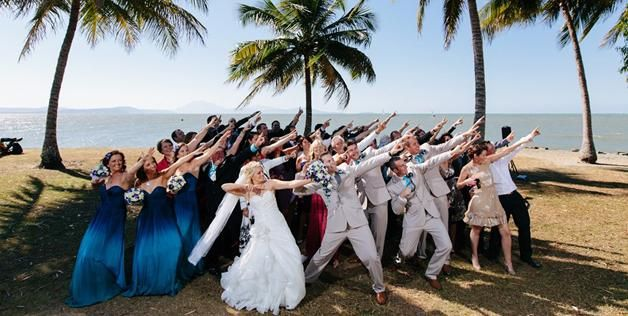 How About A Group Dance Pose For A Wedding Photo