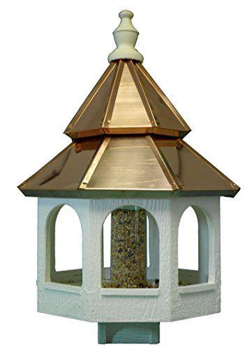 Amish Double Copper Roof Bird Feeder Edisonville Woodshop Http Www Amazon Com Dp B00oo1iza8 Ref Cm Sw R Pi D Copper Roof Bird Feeder Bird Feeders Copper Roof