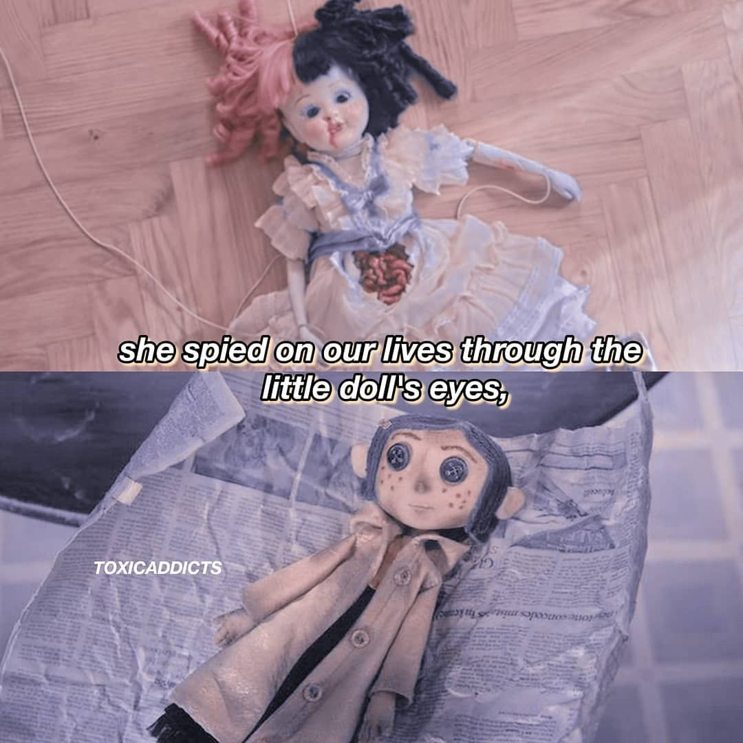 S Post Edit Coraline X K 12 This Is Something One Of The Souls In The Melanie Martinez Coraline Doll Eyes