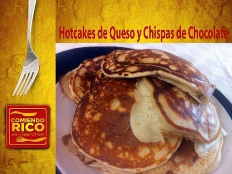 Hotcakes de Queso y Chispas de Chocolate - Chocolate Cheesecake Pancakes - Comiendo Rico - YouTube