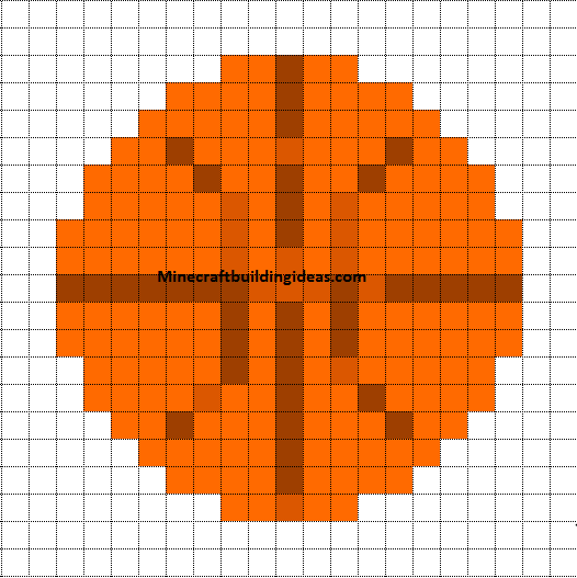 Minecraft Pixel Art Templates Basketball Ballon De Basket
