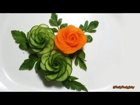 Art In Cucumber Flower Carving Garnish - Fruit & Vegetable