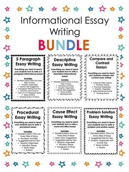 informational essay writing bundle procedural writing paragraph informational essay writing bundle