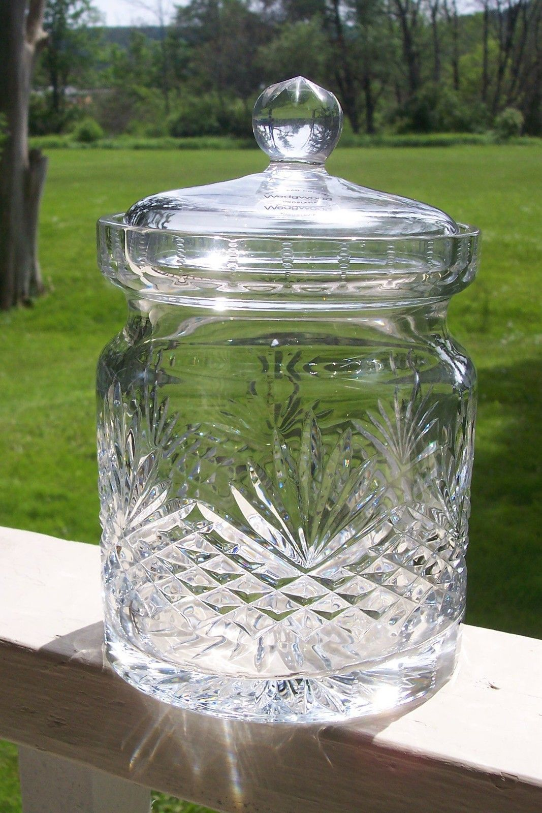 Huge Glass Cookie Jar Wedgwood Majesty Crystal Biscuit Jar And Lid Cut Crystal 6 1