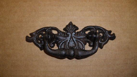Elegant Victrian swing handle drawer pulls set of 8