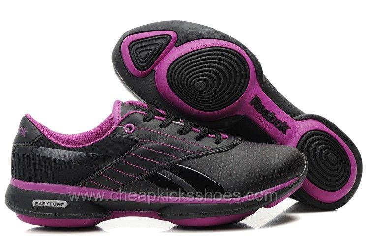 Http Www Discountkicksshoes Com Images Kicksshoes Womens Reebok Easytone Black Purple Jpg Calca