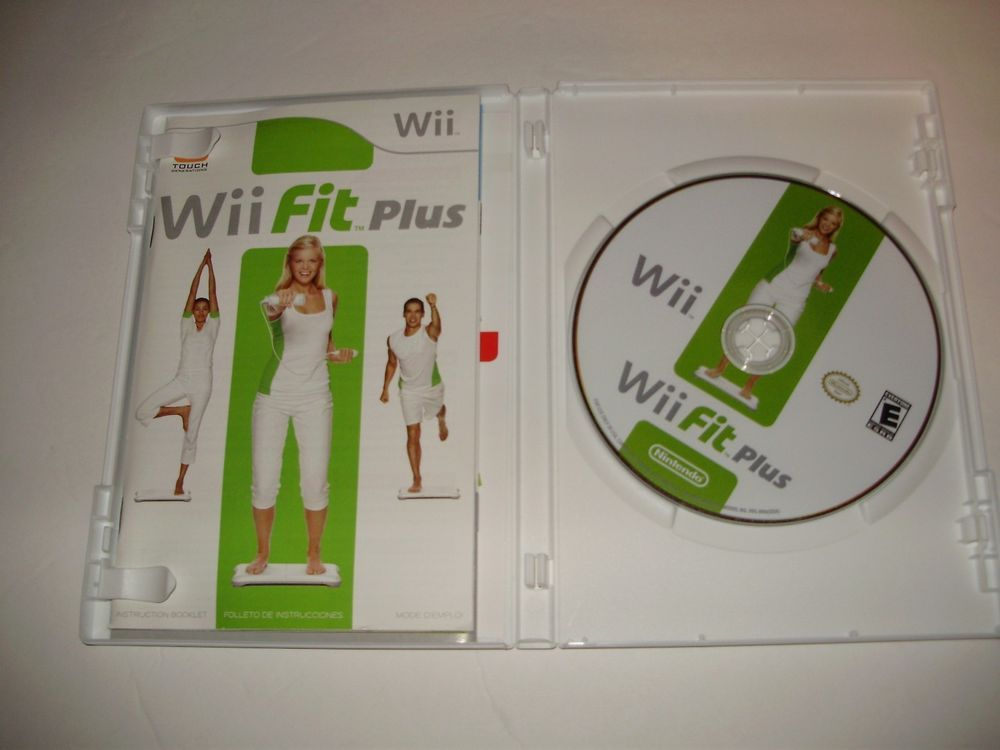wii fit plus game nintendo wii 2009 original case manual included rh pinterest com Wii Sports Games Wii Play