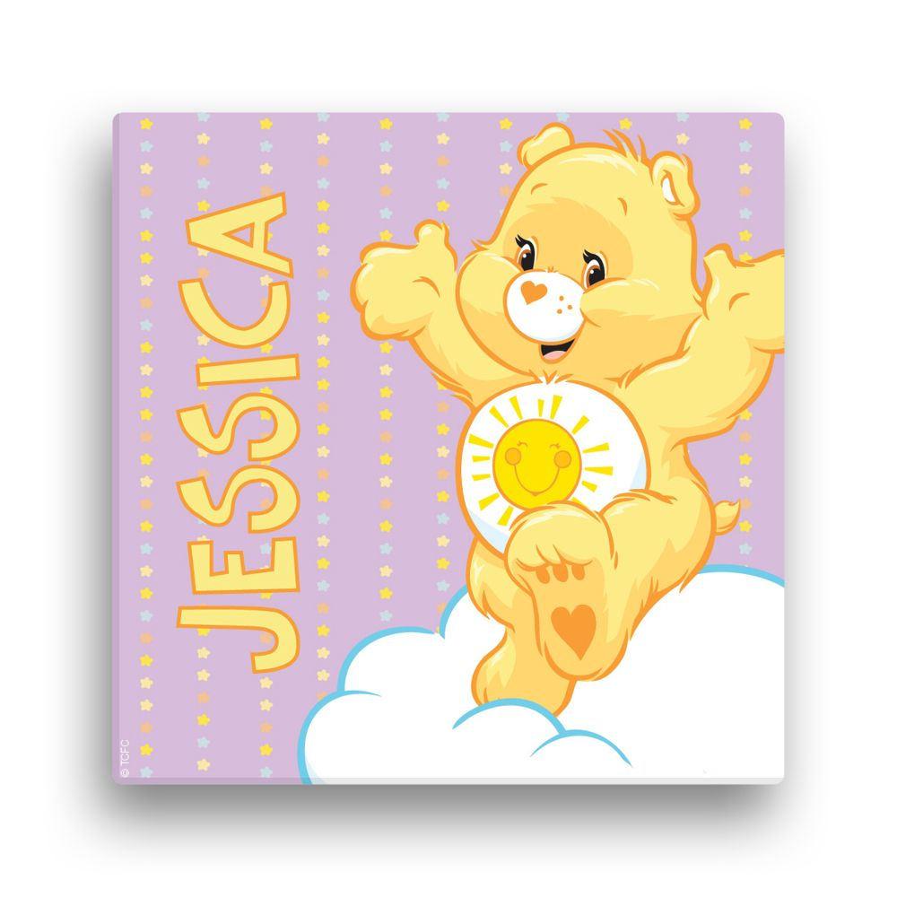 Care Bears Funshine Bear 12 x 12 Canvas Wall Art - Personalized Wall ...