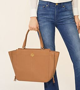 ef6f55a0f3fd Tory Burch Ivy Side-zip Tote Laptop Bag For Women