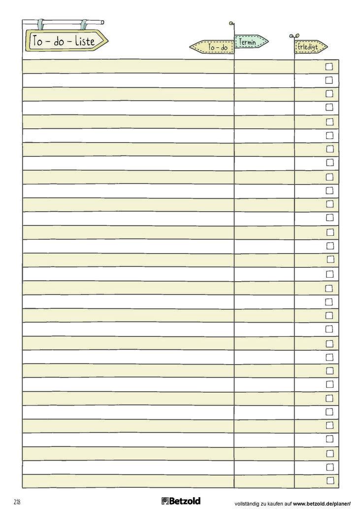 To-do-Liste: praktische Vorlage zum Ausdrucken aus dem Betzold Kita-Planer, Kita #dolistsorbooks