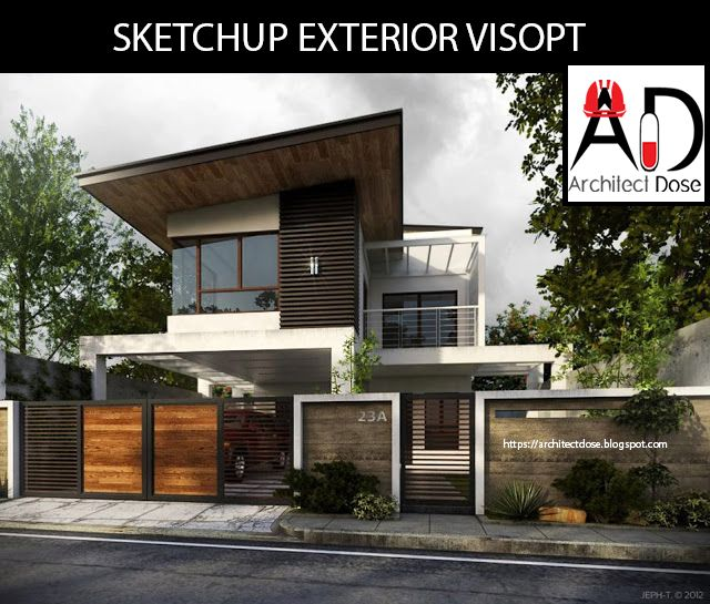 Home Design Software Sketchup: SKETCHUP EXTERIOR AND INTERIOR VISOPT