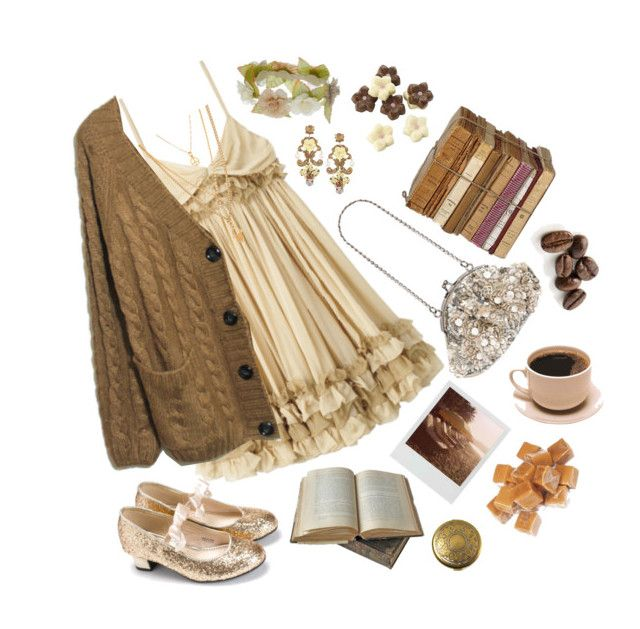 Coffee Caramel by ginator on Polyvore featuring Monsoon, Dolce&Gabbana, Datura, Polaroid and D&G