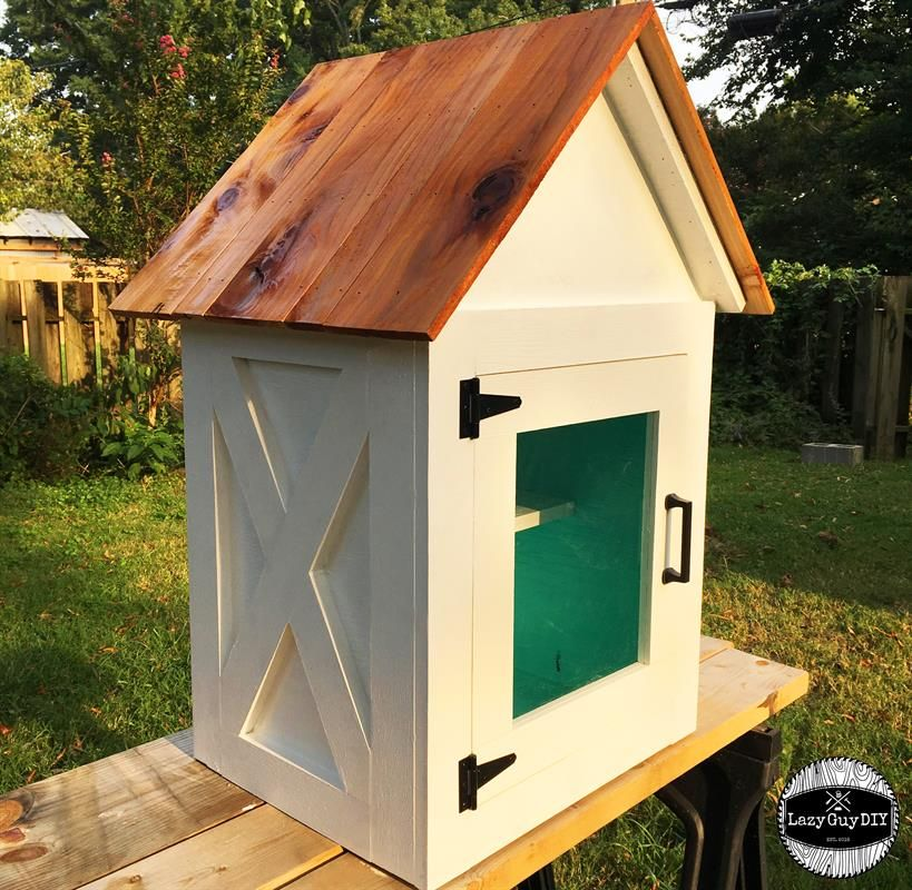 The Lazy Little Library Is A Great Weekend Project To