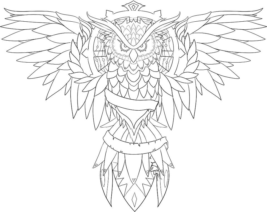 owl outline az coloring pages owl tattoo coloring