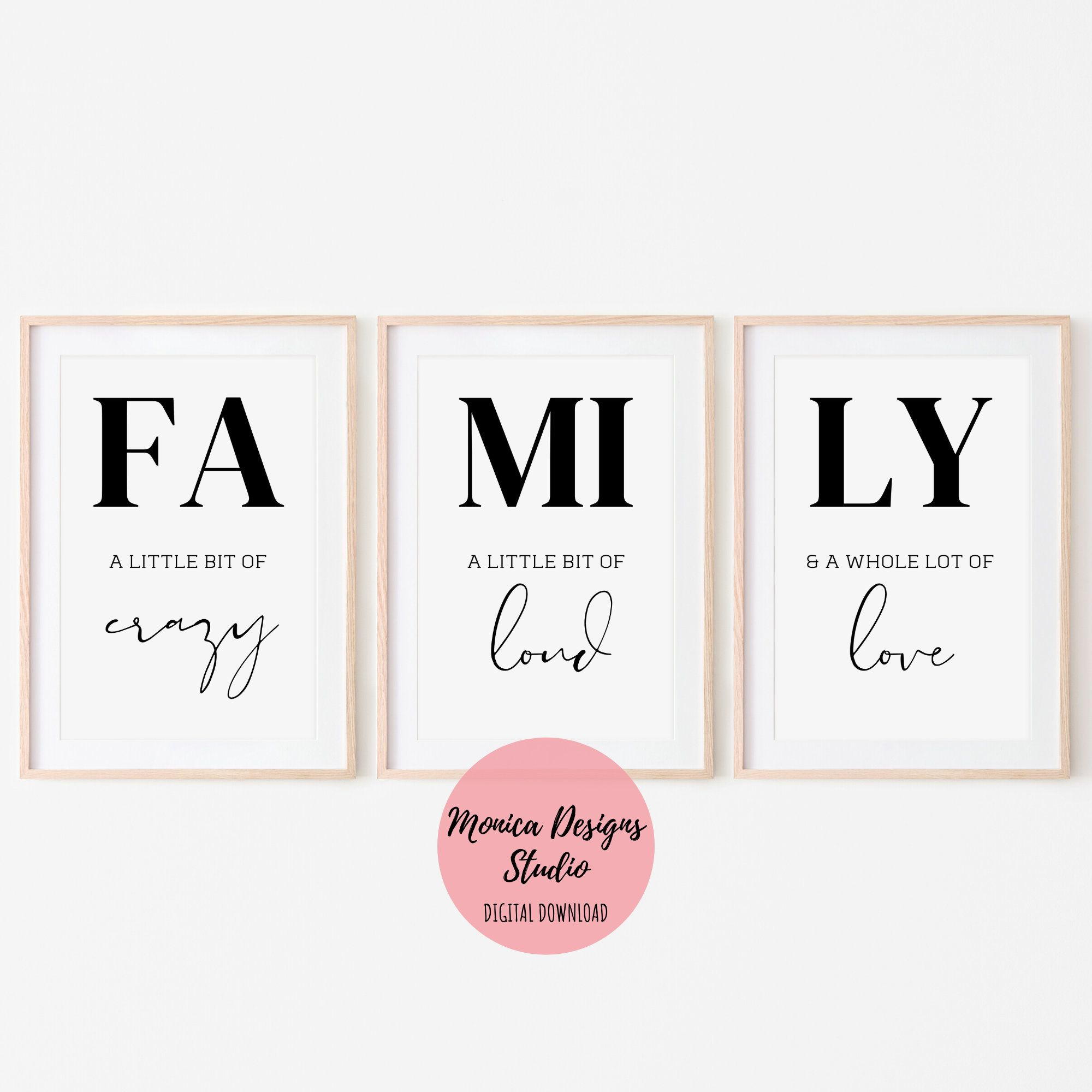 Family Quote 3 Piece Wall Art Etsy In 2020 3 Piece Wall Art Etsy Wall Art Three Piece Wall Art