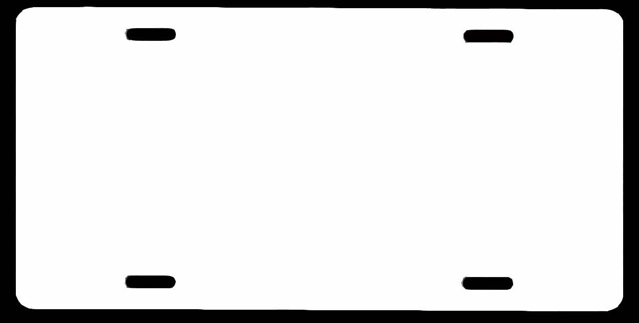 Blank License Plate Template Template Printable Templates Printable Free License Plate License plate template printable free