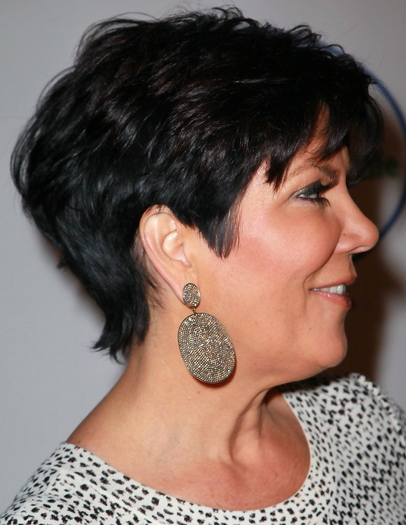 Kris Jenner Dangling Diamond Earrings Hairstyles Pinterest