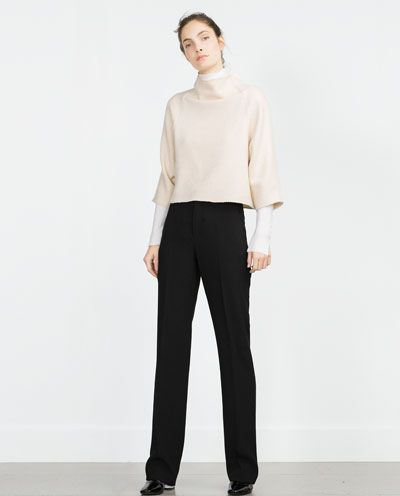 Image 1 of STRAIGHT-CUT TROUSERS from Zara