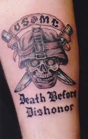 Usmc Tattoo Usmc Tattoo Marine Corps Tattoos Death Before Dishonor Tattoo