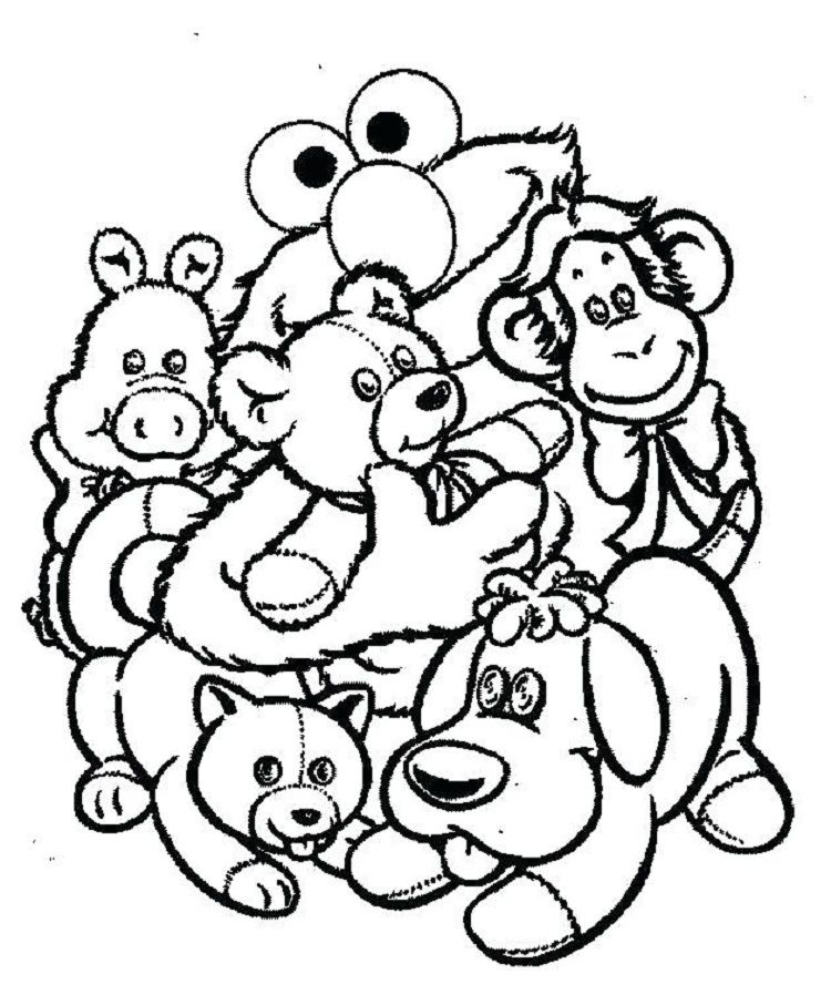 Stuffed Animal Coloring Pages Coloring Pages For Kids Pinterest