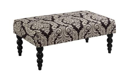 Pleasing Claire Black White Wood Fabric Bench Benches Upholstered Machost Co Dining Chair Design Ideas Machostcouk