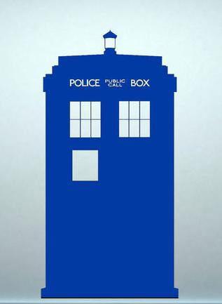 Sticker para pared Doctor Who. Tardis