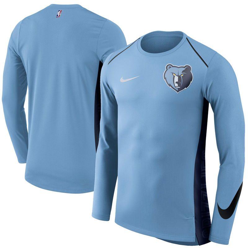 33234ce9ba71 Memphis Grizzlies Nike Elite Shooter Performance Long Sleeve T-Shirt – Blue