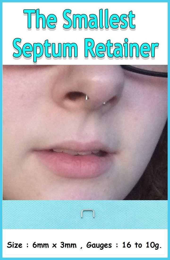 Body piercing retainer  The Smallest only Xmm g Sterilized Surgical Steel Septum