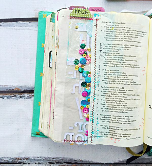 Janel MacLean | how to fix mistakes in your mixed media art journaling Bible