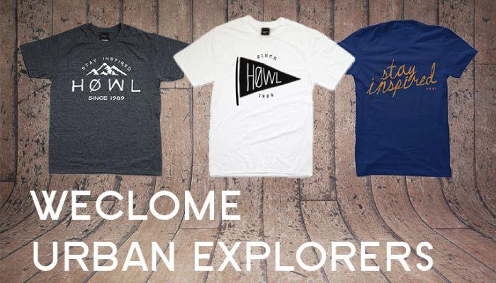 HOWL – Urban Explorers Collection | T-shirts originaux