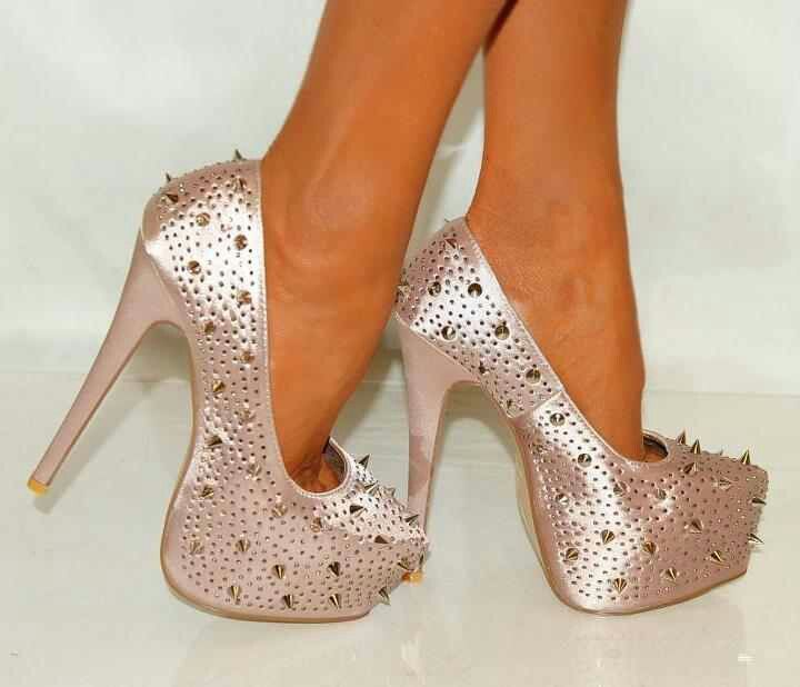 Metallic pink with spikes